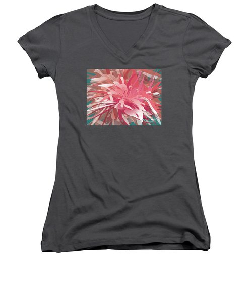 Floral Profusion Women's V-Neck (Athletic Fit)