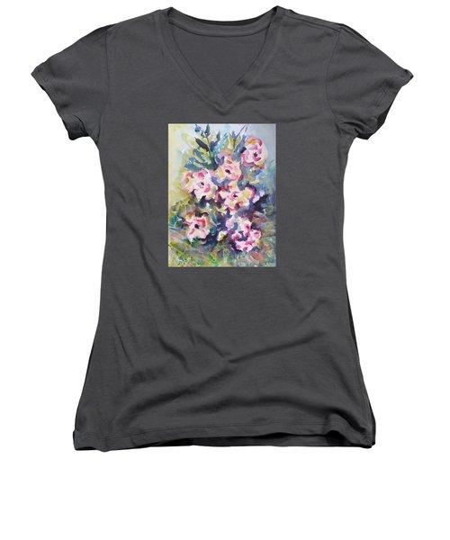 Floral Rhythm Women's V-Neck