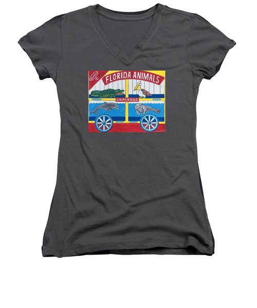 Florida Animal Crackers Women's V-Neck T-Shirt