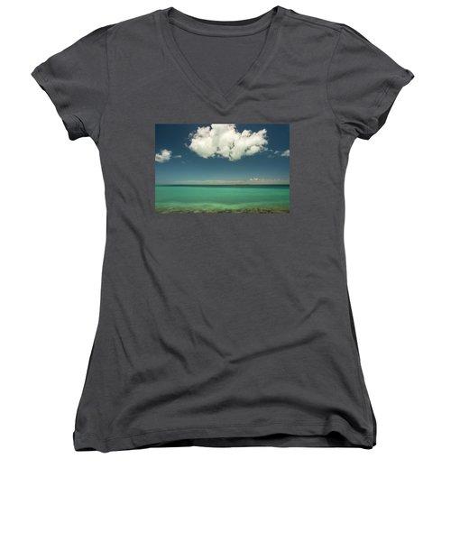 Florida Bay Women's V-Neck T-Shirt (Junior Cut) by Dana Sohr