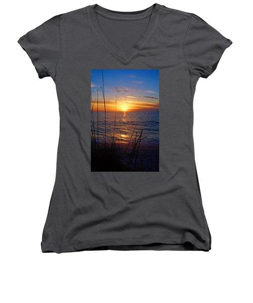 Florida Gulf Coast Sunset Women's V-Neck