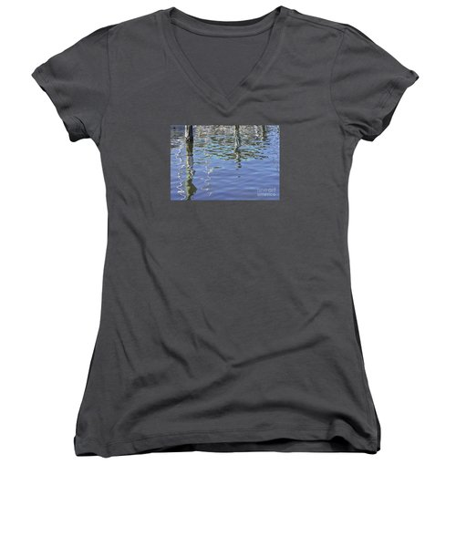 Floridian Watermark Women's V-Neck (Athletic Fit)