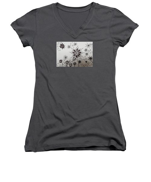 Flower 10 Women's V-Neck T-Shirt