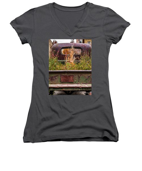 Flower Bed - Nature And Machine Women's V-Neck (Athletic Fit)