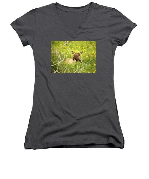Flower Child Women's V-Neck T-Shirt