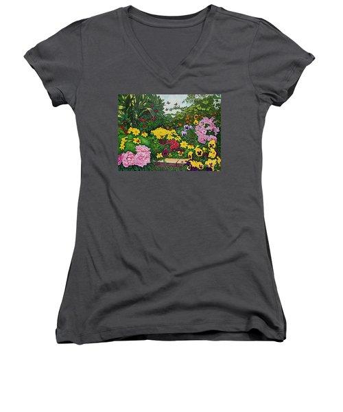 Flower Garden Xii Women's V-Neck T-Shirt