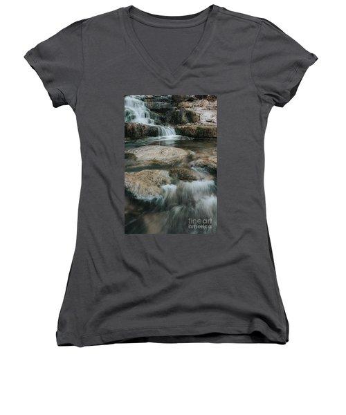 Women's V-Neck T-Shirt (Junior Cut) featuring the photograph Flower Park by Iris Greenwell
