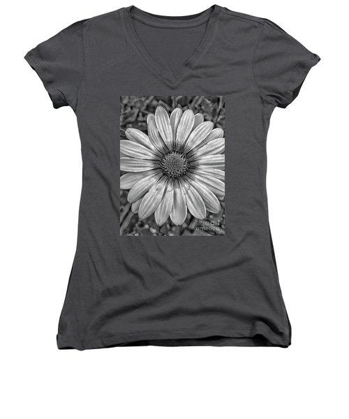 Flower Power - Bw Women's V-Neck