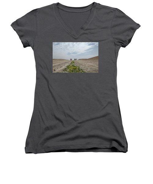 Flowering In The Desert Women's V-Neck T-Shirt