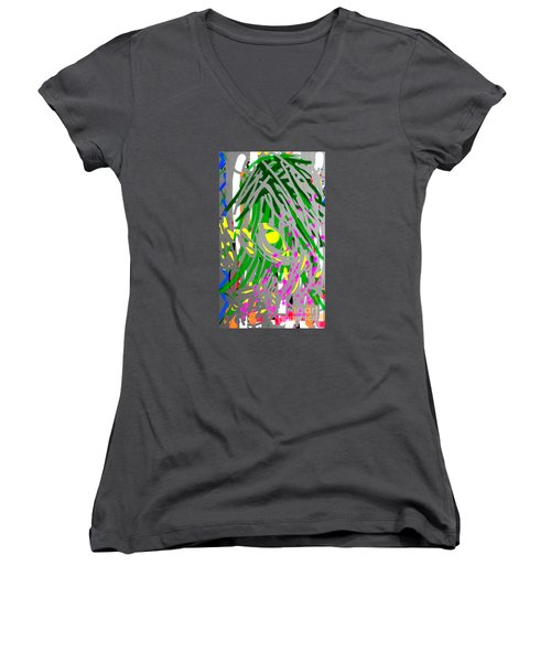 Flowering Orchids Women's V-Neck (Athletic Fit)