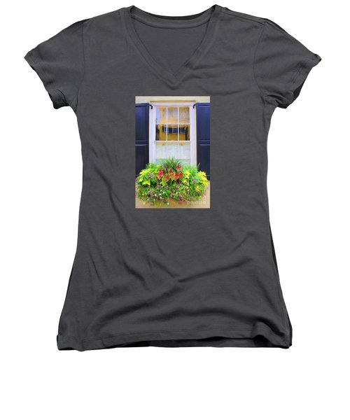 Flowers And Reflections Women's V-Neck