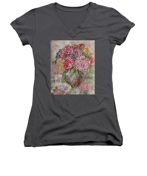 Flowers Arrangement  Women's V-Neck (Athletic Fit)