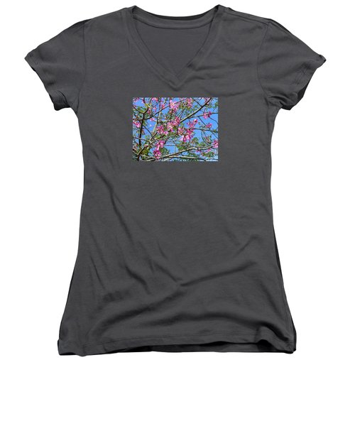 Flowers At Epcot Women's V-Neck T-Shirt