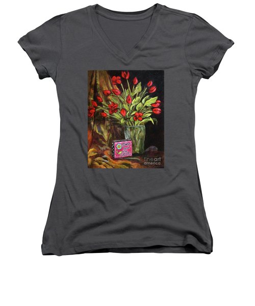 Flowers Feed The Soul Women's V-Neck