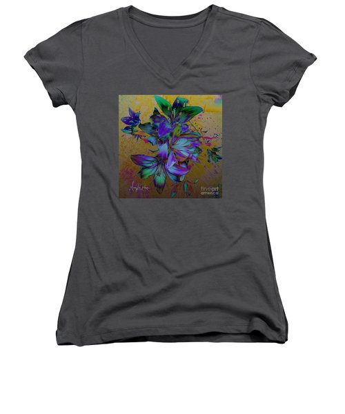 Flowers For The Heart Women's V-Neck
