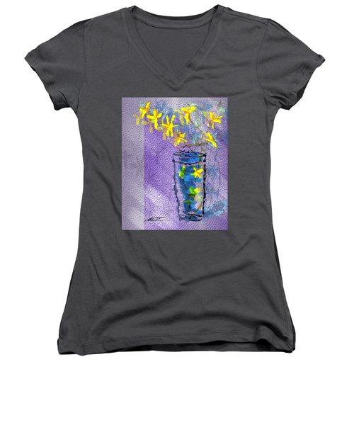 Flowers In Vase Women's V-Neck T-Shirt