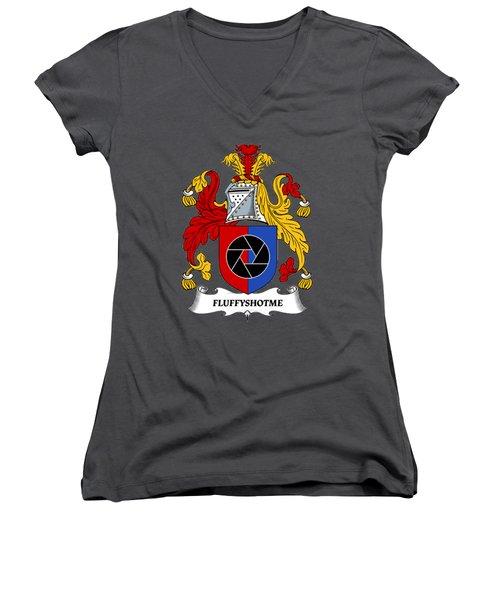 Fluffyshotme Logo Women's V-Neck T-Shirt