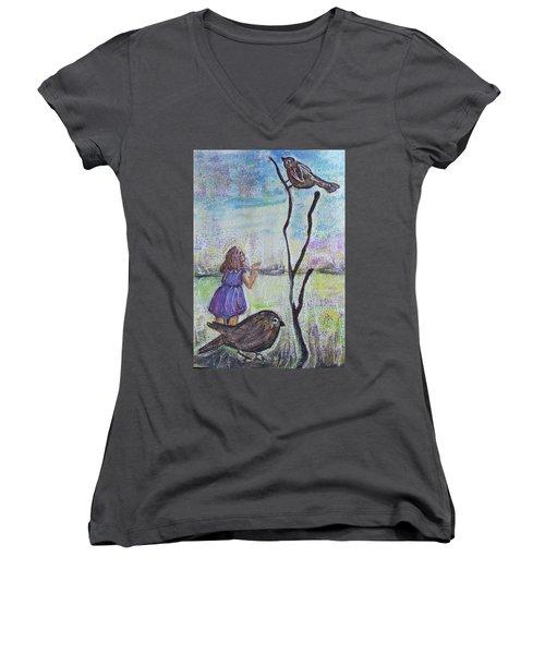 Fly, Fly Away Women's V-Neck T-Shirt