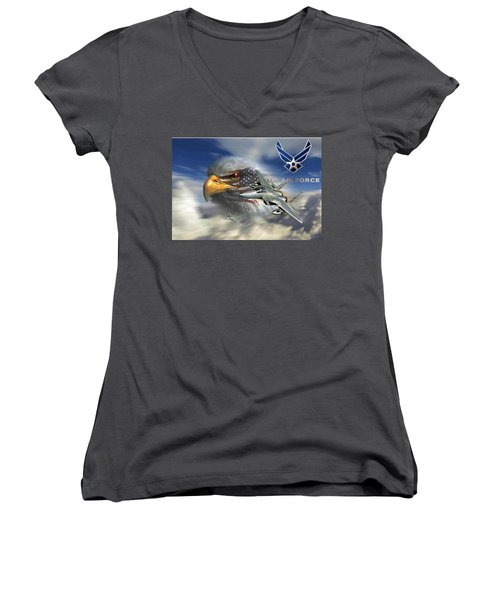 Fly Like The Eagle Women's V-Neck T-Shirt
