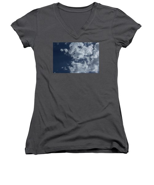 Women's V-Neck T-Shirt featuring the photograph Fly Me To The Moon by Megan Dirsa-DuBois