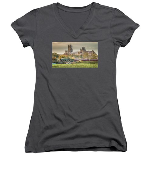 Flying Scotsman At Ely Women's V-Neck