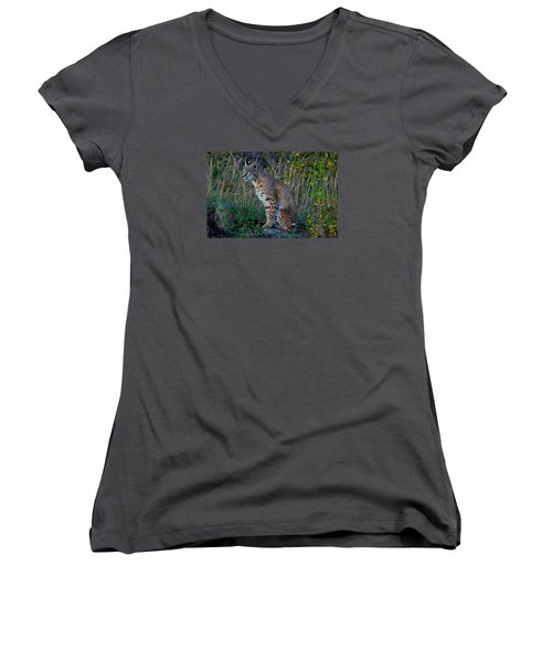 Focused On The Hunt Women's V-Neck (Athletic Fit)