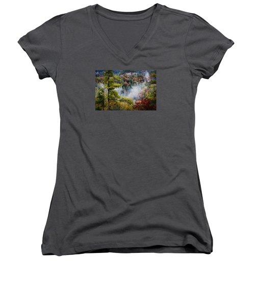 Fog In The Valley Women's V-Neck T-Shirt