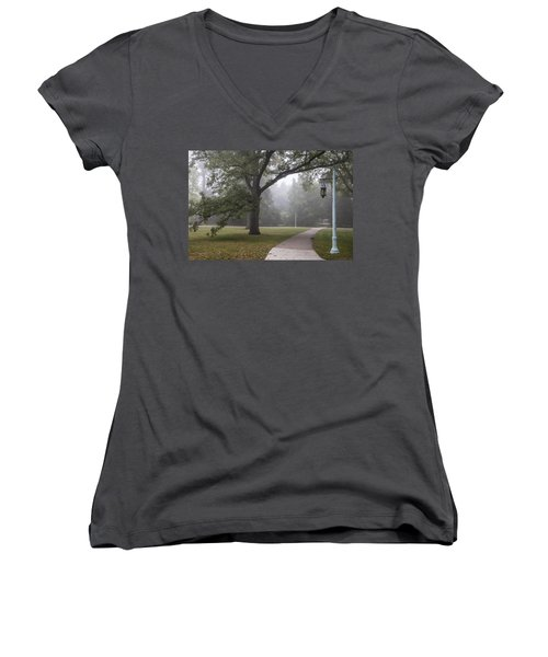Foggy Campus  Women's V-Neck