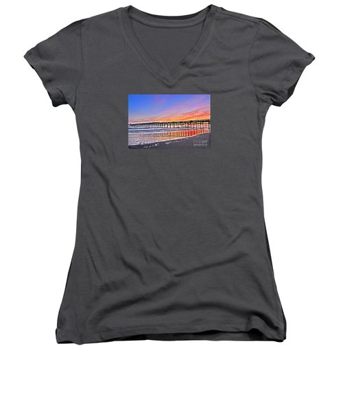Foggy Sunset Women's V-Neck T-Shirt