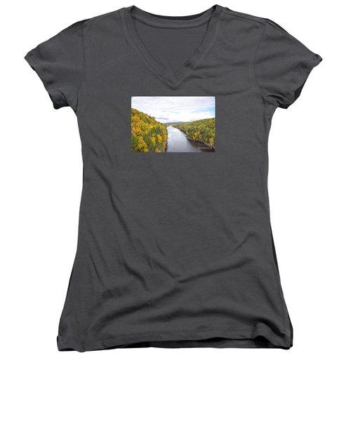 Foliage Clouds Women's V-Neck