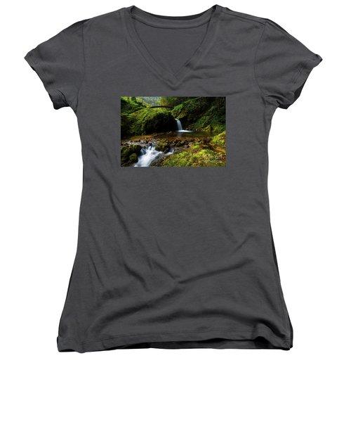 Follow It II Women's V-Neck T-Shirt (Junior Cut) by Yuri Santin