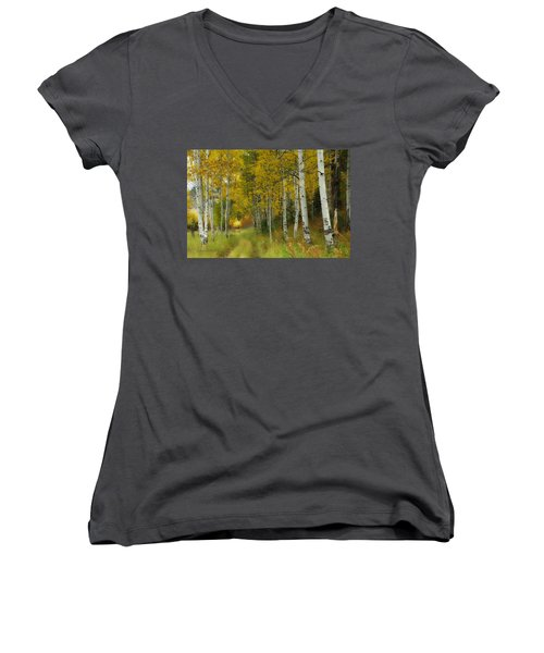 Follow The Light Women's V-Neck (Athletic Fit)