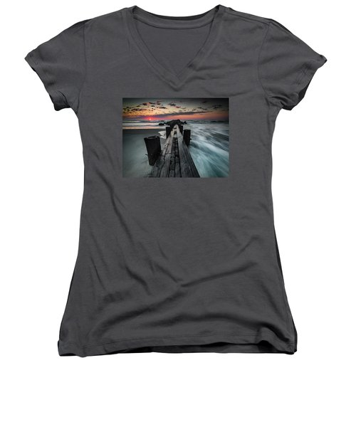 Folly Beach Tale Of Two Sides Women's V-Neck