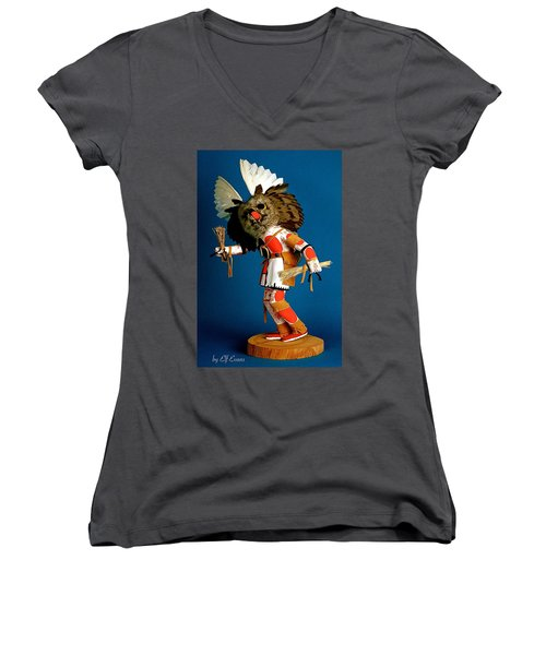 Women's V-Neck T-Shirt featuring the photograph Fool Me Once Shame On Me by Elf Evans