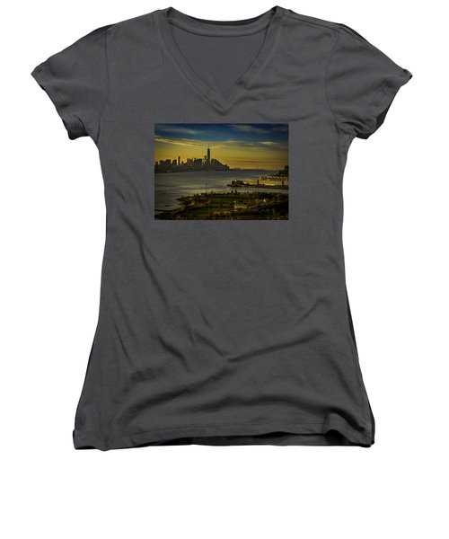 Football Field With A View Women's V-Neck