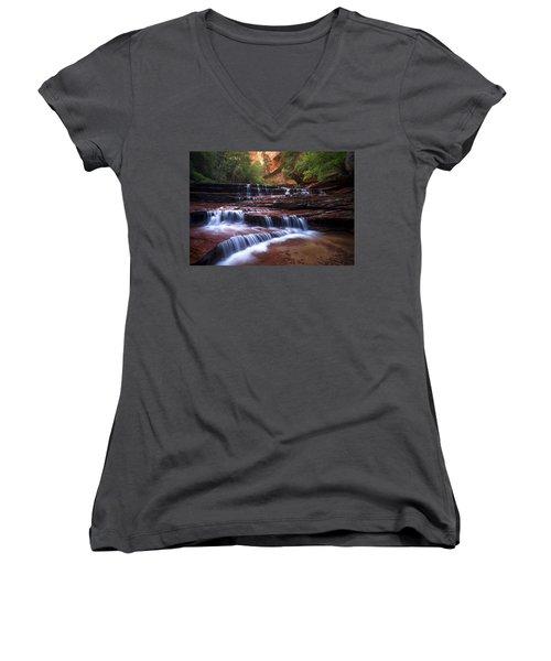 For An Angel Women's V-Neck T-Shirt (Junior Cut)
