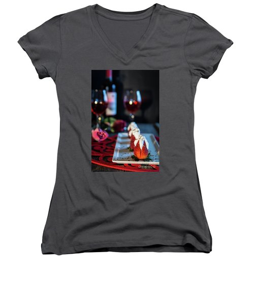 Women's V-Neck T-Shirt (Junior Cut) featuring the photograph For My Sweetheart by Deborah Klubertanz