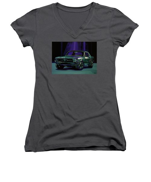 Ford Mustang 1967 Painting Women's V-Neck