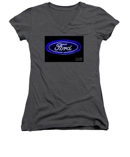 Ford Neon Sign Women's V-Neck