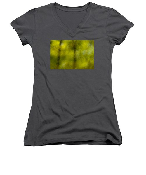 Forest Abstract Reflection Women's V-Neck