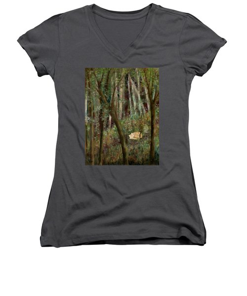Forest Cat Women's V-Neck