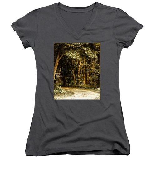 Forest Curve Women's V-Neck T-Shirt