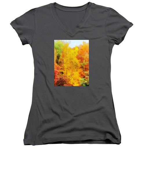 Forest Fire Women's V-Neck (Athletic Fit)
