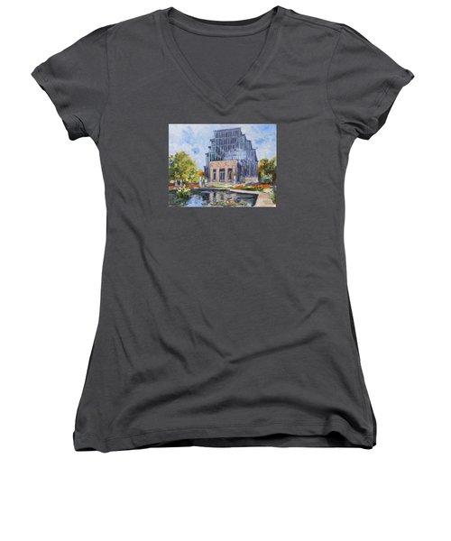 Forest Park - Jewel Box Saint Louis Women's V-Neck T-Shirt (Junior Cut)