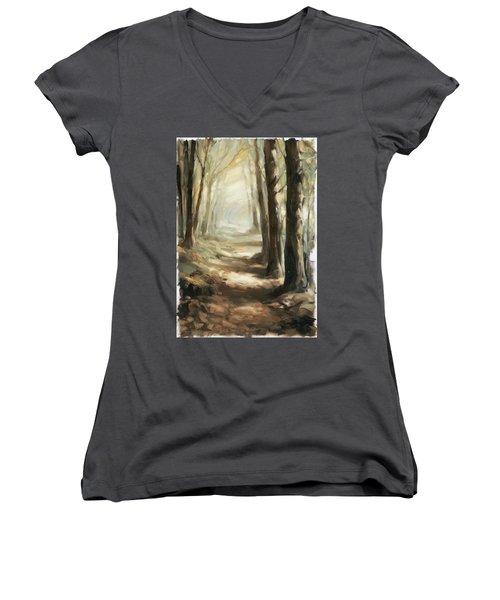 Forest Path Women's V-Neck