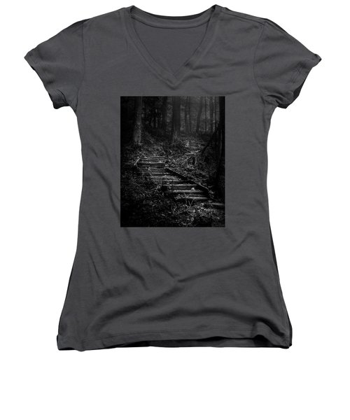 Forest Stairs Women's V-Neck