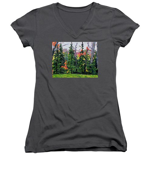 Forest Wall Women's V-Neck (Athletic Fit)