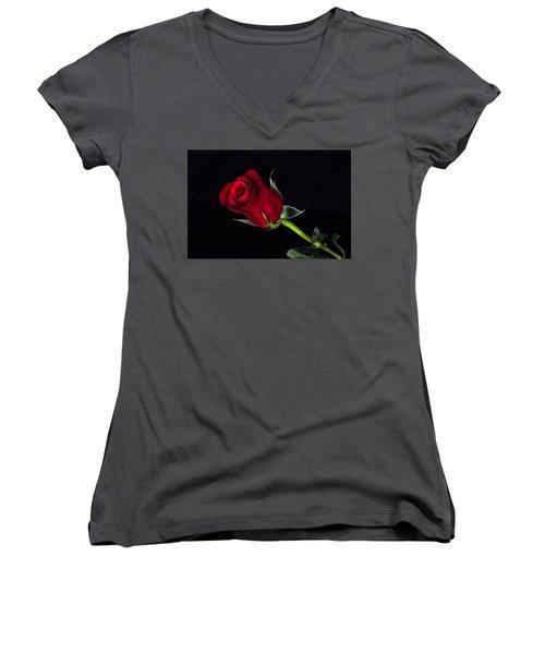 Forever Lasting Rose  Women's V-Neck
