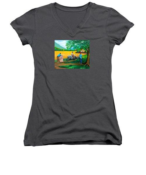 Forex 1 Women's V-Neck T-Shirt (Junior Cut) by Cyril Maza