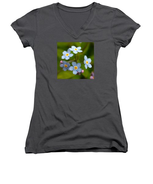 Forget-me-not Women's V-Neck (Athletic Fit)